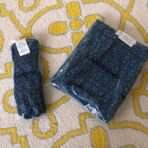 🧤🧣NWT Land's End Gloves (L) and Scarf (OS)🧤🧣